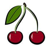 Icon of cherry — 图库矢量图片
