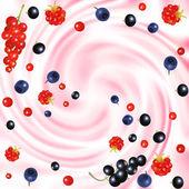 浆果霜 — 图库矢量图片