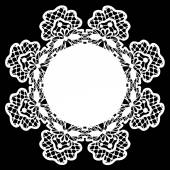 White lace doily — Stock Vector