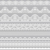 Lace borders — Stock Vector