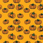 Hand-drawn Halloween pumpkins — Stock vektor