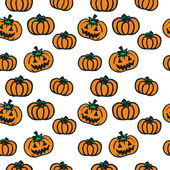 Hand-drawn Halloween pumpkins — Stockvector