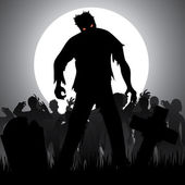 Zombies — Stock Vector