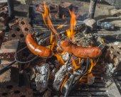 Roasted hotdogs — Stockfoto