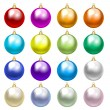 Colorful baubles — Stock Vector #57131393