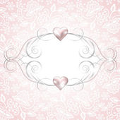 Background with jewelry frame — Stockvektor