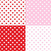 Valentines seamless patterns — Stock Vector