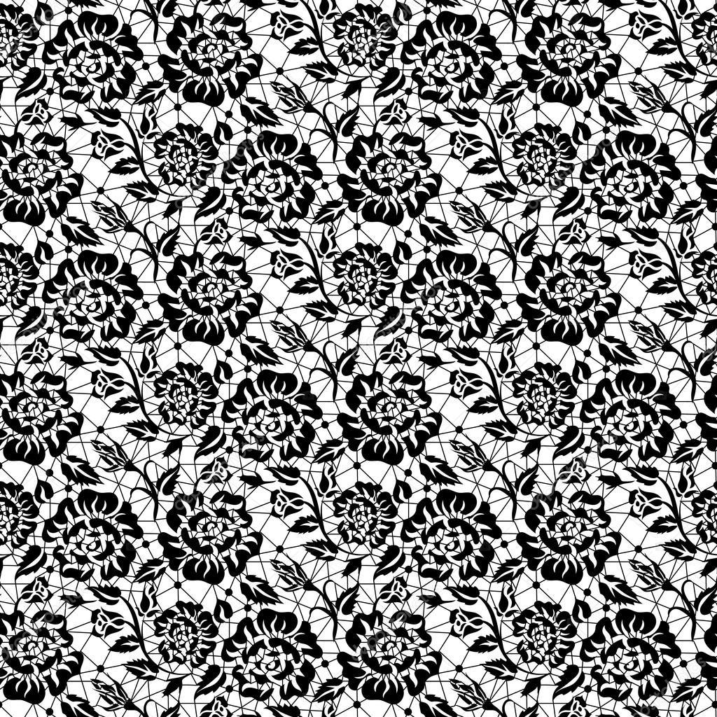 黑色玫瑰蕾丝 — 图库矢量图像08