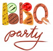 BBQ party — Stock Vector