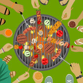 Barbeque party — Stockvektor