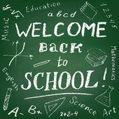 Καλώς ήλθατε πίσω στο σχολείο — Διανυσματικό Αρχείο