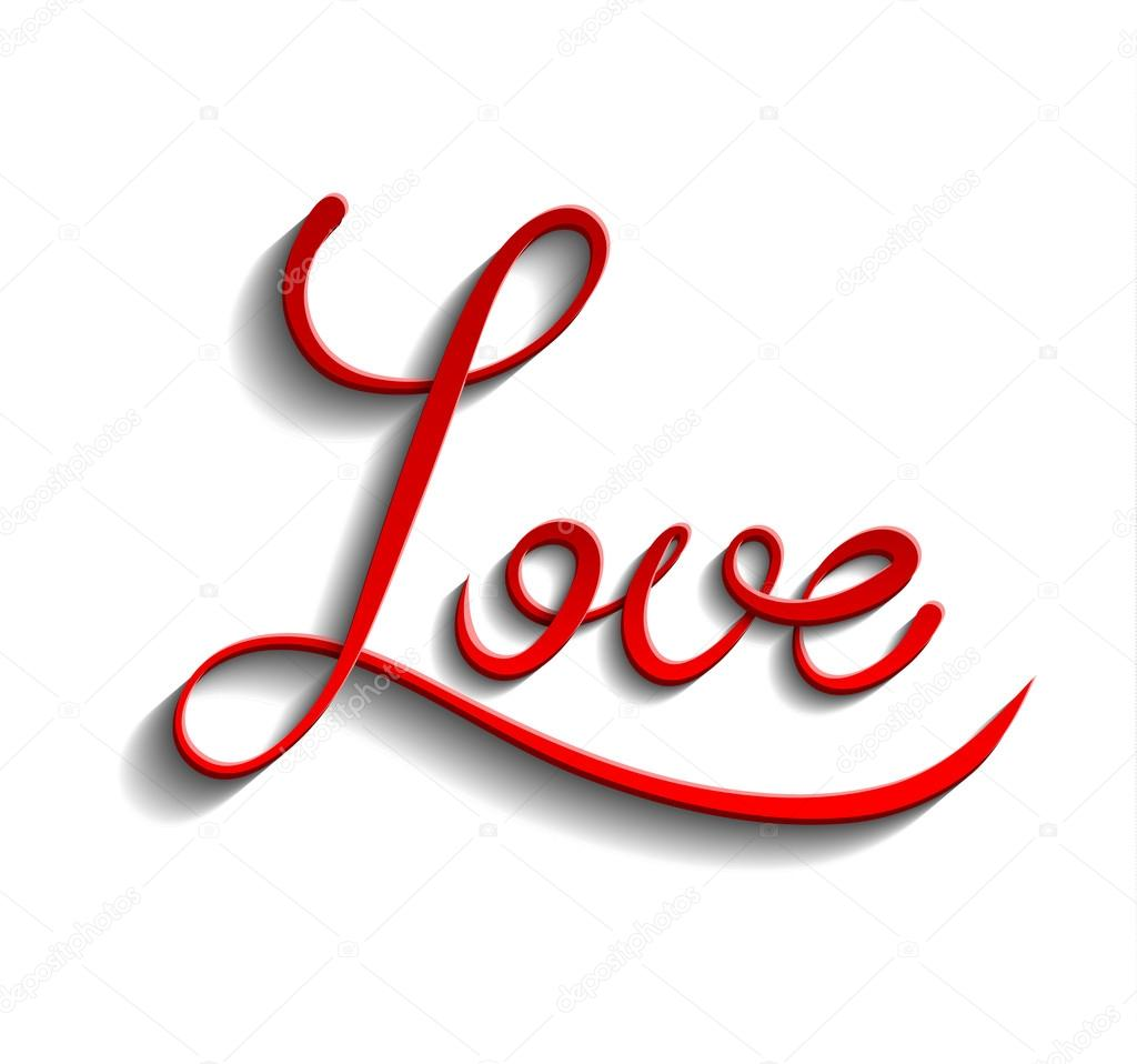 Red word Love — Stock Vector © Prikhnenko #97116172