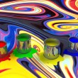 Color paint tank, abstract background — Stock Photo #56985247