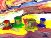 Color paint tank, abstract background — Stock Photo