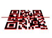 3d qr code — Stock Photo