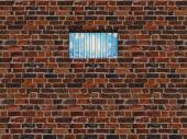 The interior of the prison cell, barred window — Stock Photo