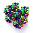 Abstract background with many colored cubes — Stock Photo #62987435