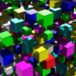 Abstract background with many colored cubes — Stock Photo #62987451
