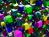 Abstract background with many colored cubes — Stock Photo