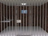 The interior of the prison cell — Stock Photo