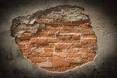 Old weathered brick wall fragment — Stock Photo