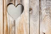 The wooden door with heart. Background — Stock Photo