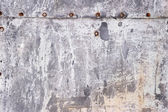 Corroded surface with chipped white paint background — Stock Photo