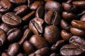 Coffee beans. Macro close up for background and texture — Stockfoto