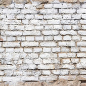 Background texture of a old white brick wall — Stock Photo