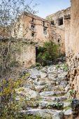 Stairs Wadi Bani Habib — Stock Photo