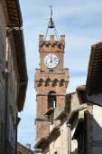 Tower city hall Pienza — Stock Photo