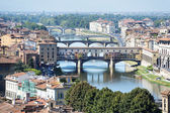 Florence with ponte vecchio — Stock Photo