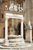 Brunnen-montepulciano — Stockfoto