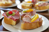 Sandwiches on plate — Stock Photo