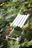 Decoration slide Christmas Market — Stock Photo