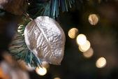 Golden leaf Christmas Market — ストック写真