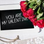 Slate blackboard valentine — Stock Photo #61820299