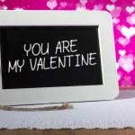 Blackboard valentine pink — Stock Photo #61877389
