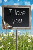 Chalkboard with text I love you — Stock Photo