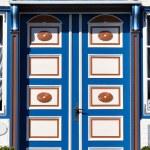 Beautiful wooden door — Stock Photo #62964233