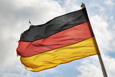 German flag in wind — Stock Photo