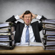 Overworked stressed businessman — Stock Photo #67958441
