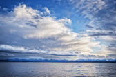 Lake Tutzing with clouds — Stock Photo