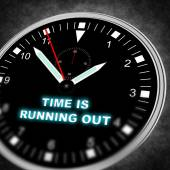 Tijd loopt uit — Stockfoto
