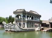 Marble Boat in Yi He Yuan (Summer Palace), Beijing, China — Stock Photo