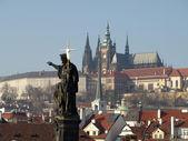 Prague Castle. View from Charles Bridge — Stock Photo