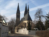 Basilica of St Peter and St Paul, Vysehrad (Vyšehrad), Prague — Stock Photo