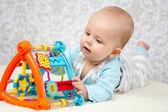 Smart baby girl — Stock Photo