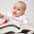 Baby with books — Stock Photo #69500329