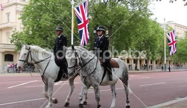 Queen's Birthday rehearsal Parade — Stock Video